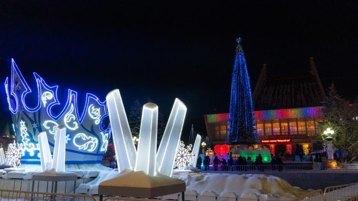 Царство Снежной королевы: морозы не помешали открытию главной ёлки Омска