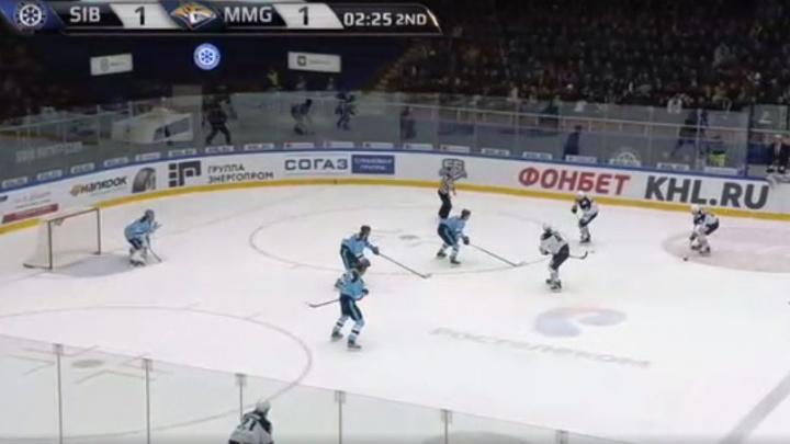 «Сибирь» против «Магнитки»: гол в начале матча и ключевая ошибка во втором периоде
