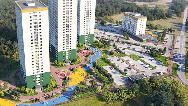Рядом с сосновым бором начали строить четыре многоэтажки