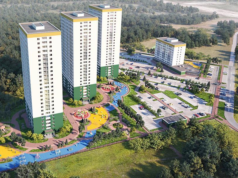 В комплексе будет четыре жилых дома