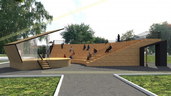 В сквере Высоцкого предложили сделать сцену с амфитеатром