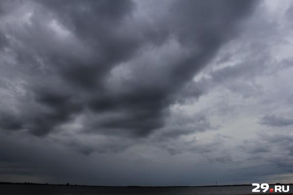 Погода в Поморье стала портиться — начались дожди и сильный ветер