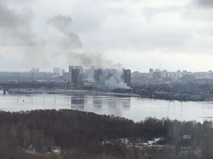 На утреннем пожаре, который видели из разных частей города, погиб мужчина