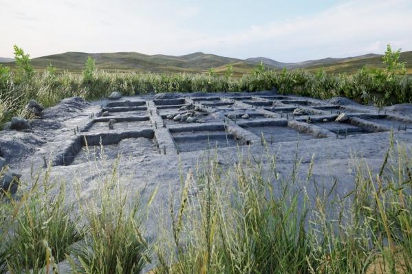 Археологи снимали место раскопок с разных ракурсов