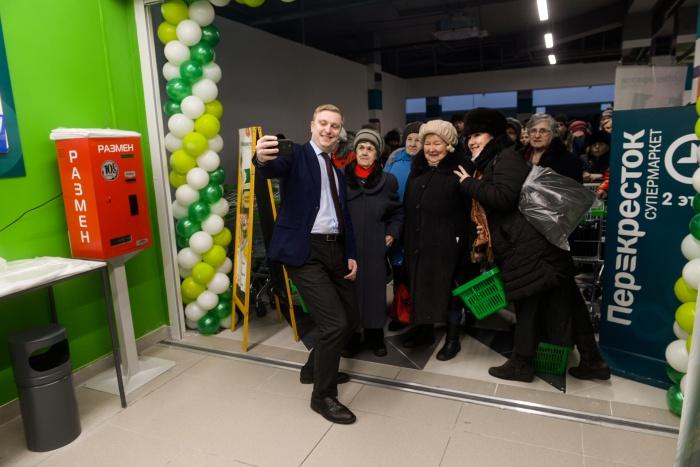 В день открытия нового «Перекрестка» от покупателей не было отбоя
