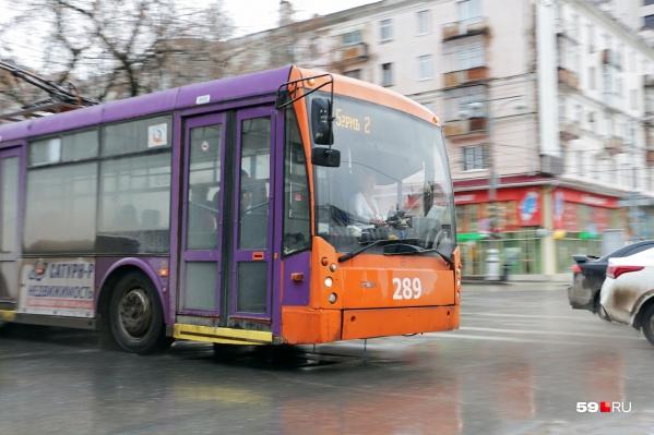 Троллейбусы из Перми планируют убрать