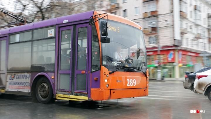В Перми проходит митинг против новой маршрутной системы и ликвидации троллейбусов. Прямая трансляция