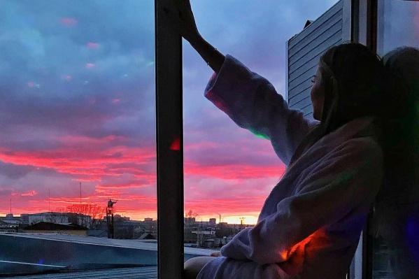 Красноярцы делятся фотографиями красивого заката