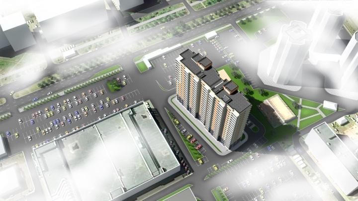 Между ТЦ «Комсомольский» и свечкой заложили новый дом на 200 квартир