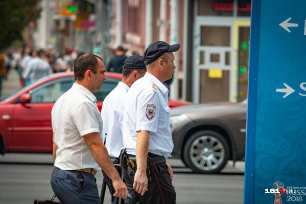 В Шахтах на улице много полицейских