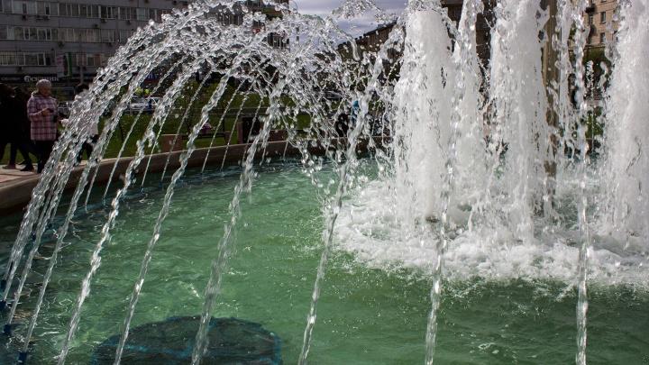 Новая традиция: в Новосибирске раньше обычного заработали фонтаны