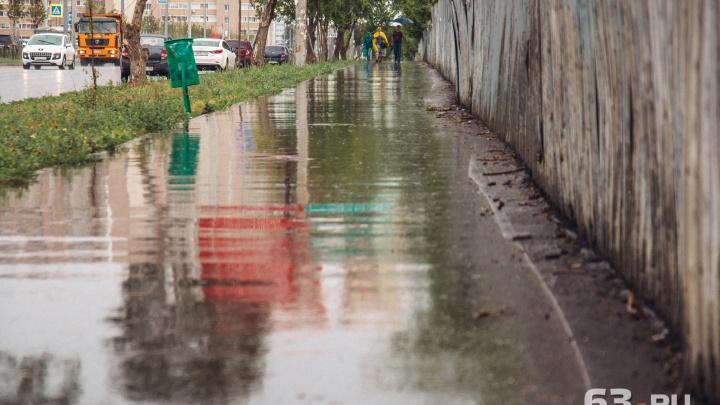 Синоптики прогнозируют дожди и грозы в Самарской области