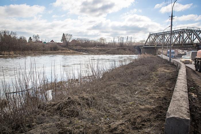 Река Тула в районе садового общества «Сибирь-1»