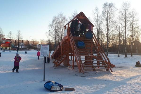 В эту зиму парк на Варавино-Фактории выглядит так<br>