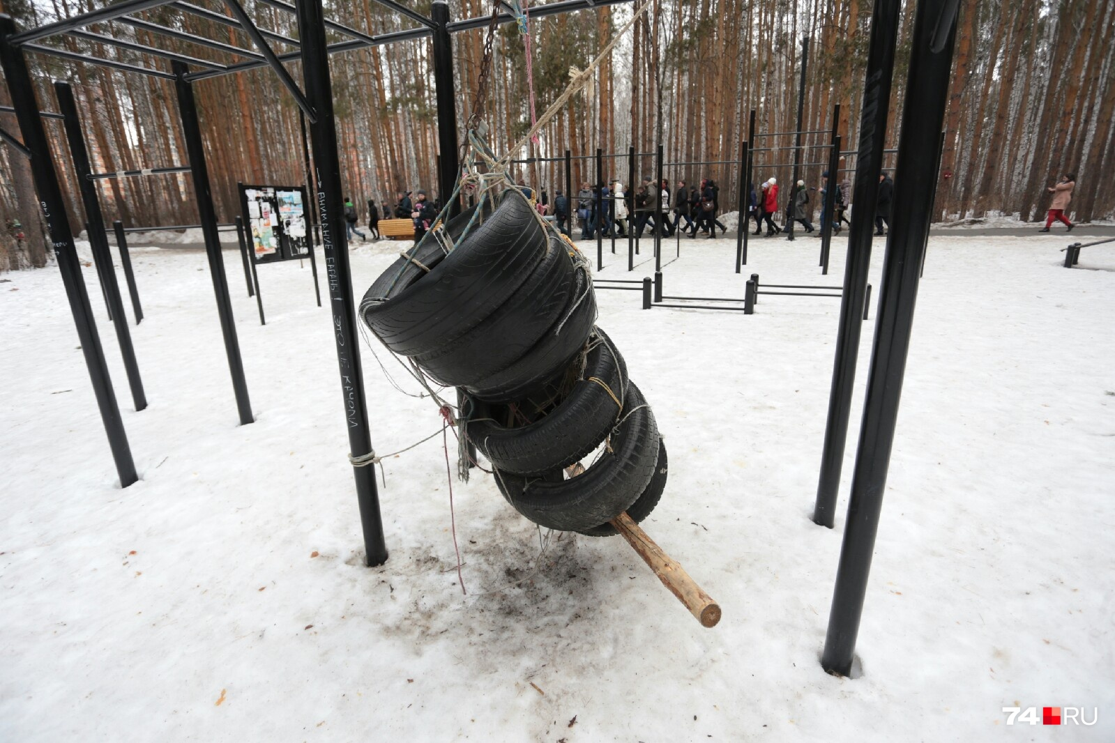 В благоустройстве Челябинска помогают колёса