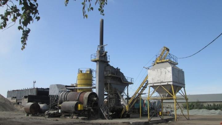Под Омском нашли ещё один асфальтовый завод, который загрязнял воздух