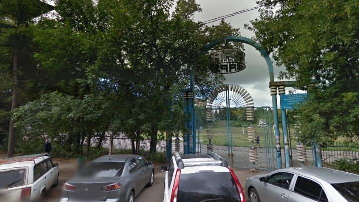 На стадионе«Заря» вырубили сухостой и заросли кустарника