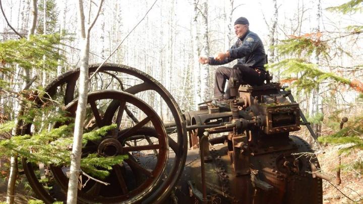 «Свидетельство золотой лихорадки»: машину 19 века красноярский путешественник нашёл в тайге