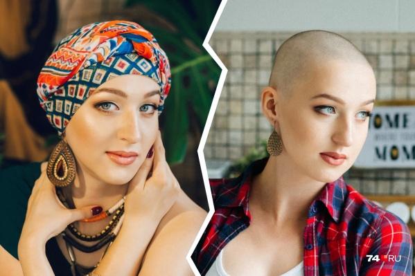 Первую фотосессию Надежде устроили друзья, когда ей пришлось сбрить волосы после химиотерапии