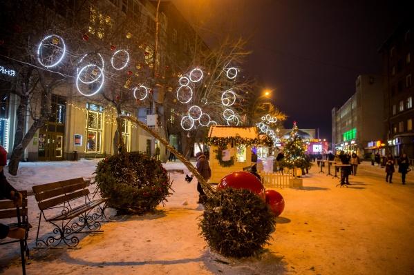 В прошлом году улица Ленина была пешеходной в летние выходные дни и в течение новогодних каникул