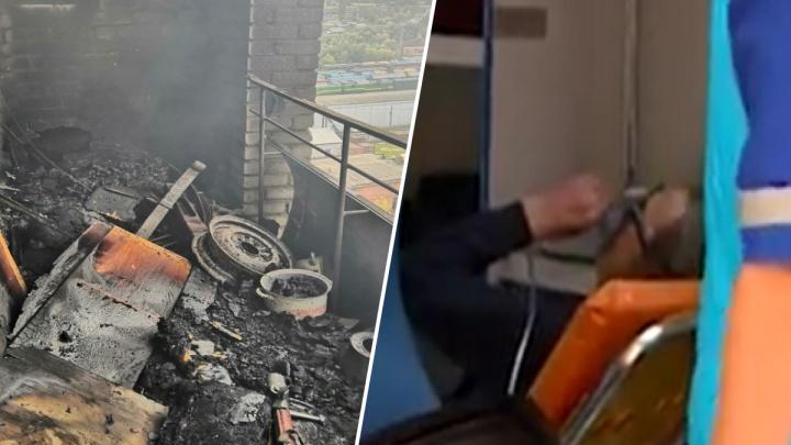 Крупный пожар в Рыбинске: спасатели на руках вынесли из огня 71-летнего дедушку