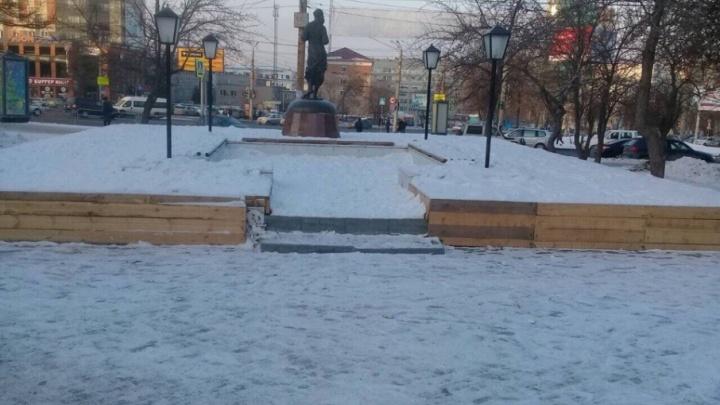 Сквер в центре Челябинска спасли от застройки