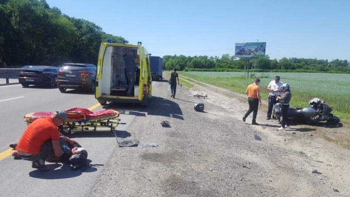 В Ростовской области мотоциклист сбил велосипедиста
