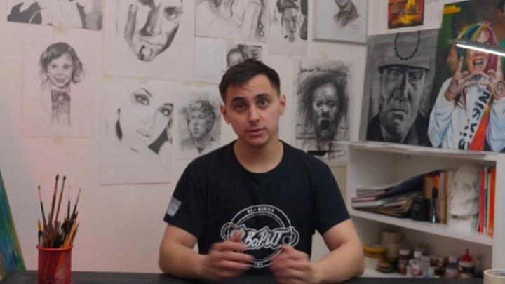 Успеть за четыре часа: уфимец нарисовалпотрет врача Леонида Рошаля