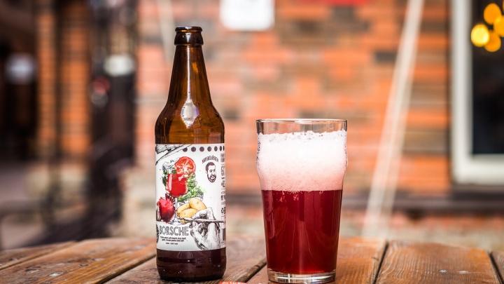 «Под сало — самое то»: в Новосибирск привезли пиво со вкусом борща