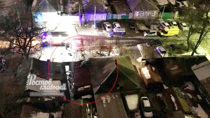 Ночной пожар потушили в центре Ростова