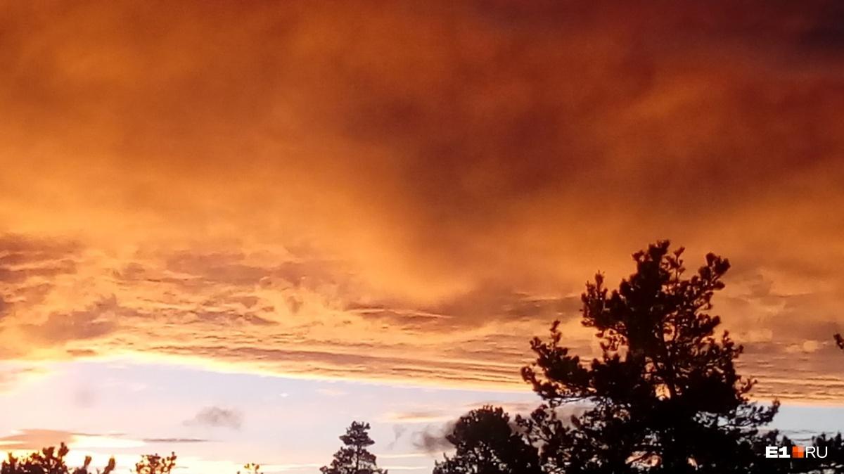 Огненное небо в Берёзовском