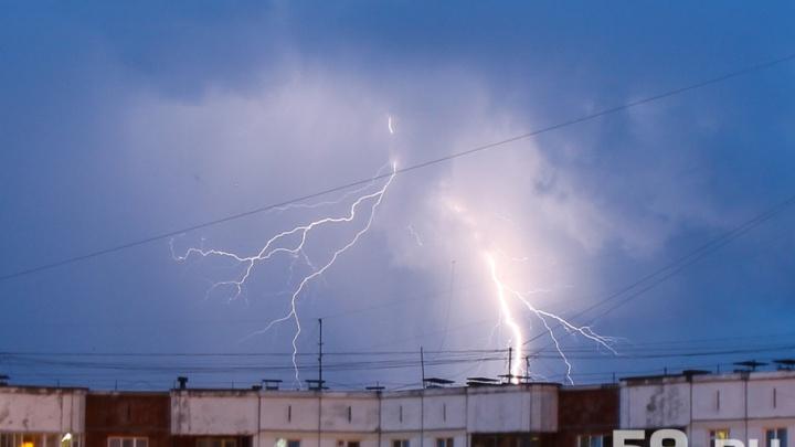 Синоптики пообещали пермякам грозы и порывы ветра до 20 метров в секунду