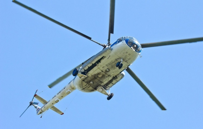 Вертолёт кружил над Горским микрорайоном
