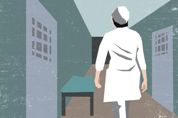 Для агрессивных пациентов в больнице есть специальные наблюдательные палаты с решетками