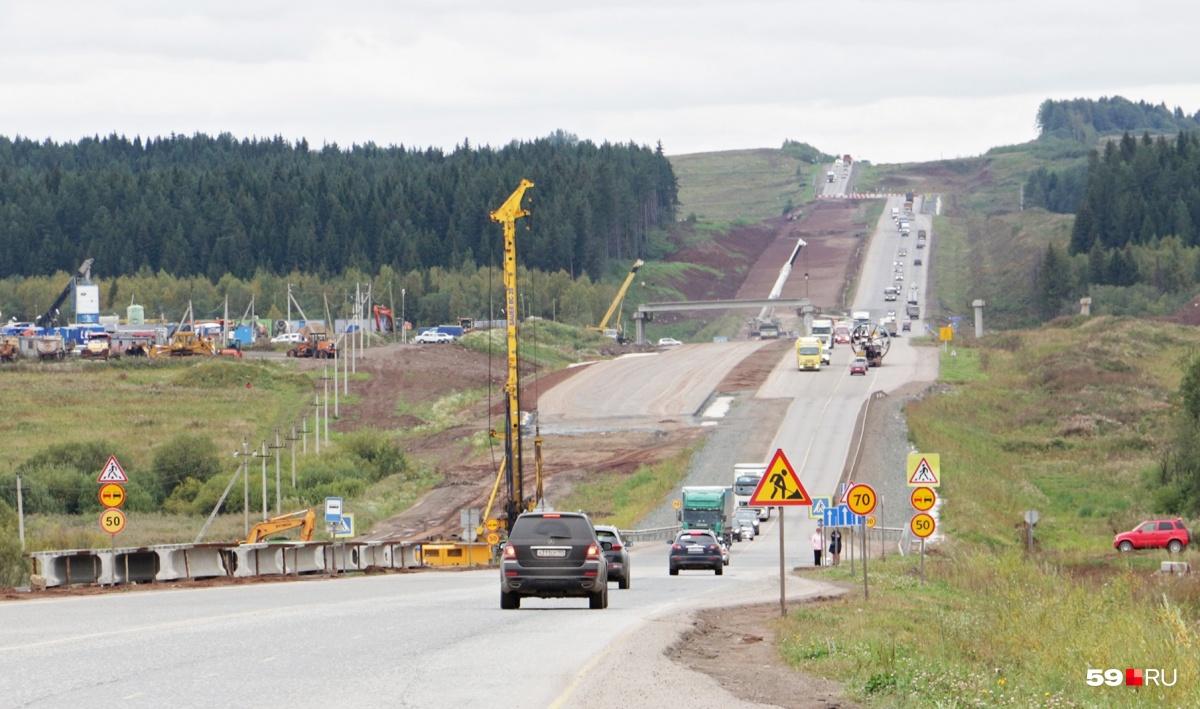Реконструкция автомобильной дороги Пермь — Екатеринбург началась в 2012 году