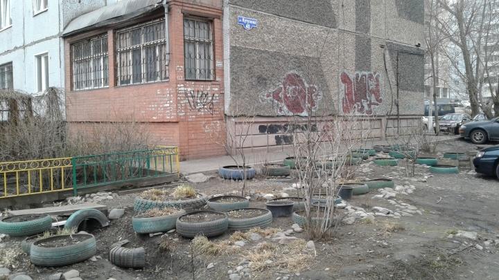 Жительница Красноярска заметила «Шинный ад» на улицах города