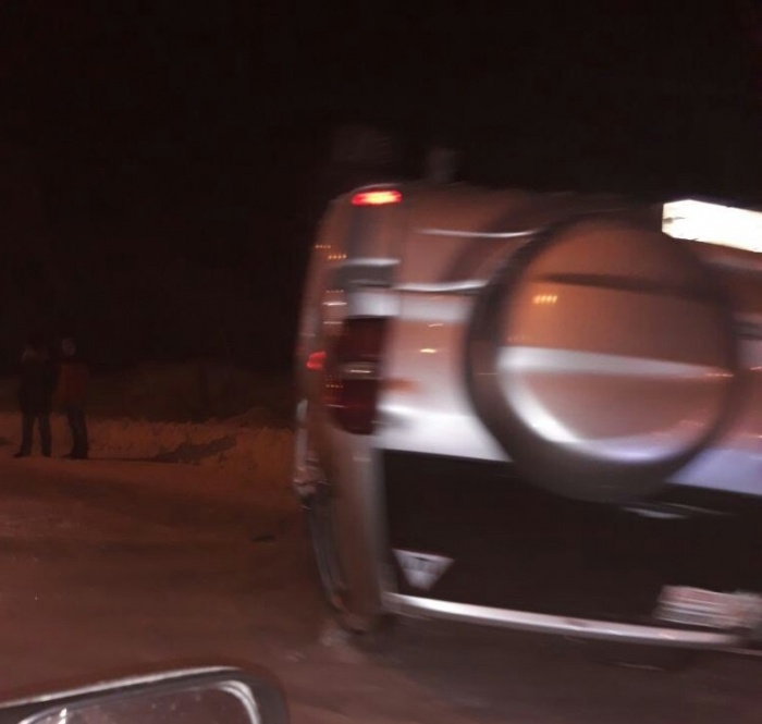Toyota RAV4 перевернулась на Бердском шоссе