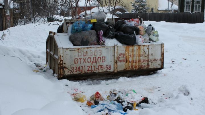 Жителям частного сектора Перми поставили мусорные баки, но они просят вернуть бесконтейнерный сбор