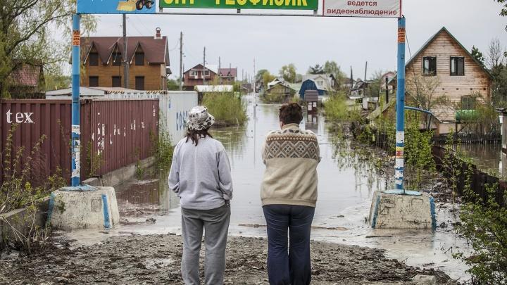 Большая вода пришла на десятки новосибирских дач