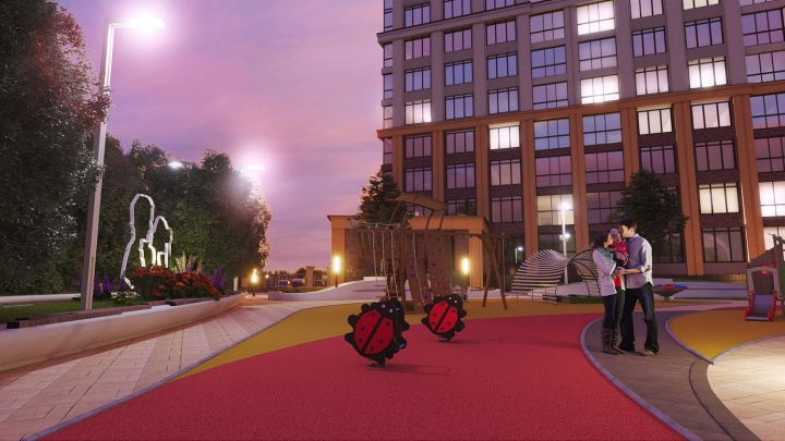 Возле «Золотой Нивы» строят престижную новостройку с закрытым двором, которую сдадут уже в этом году