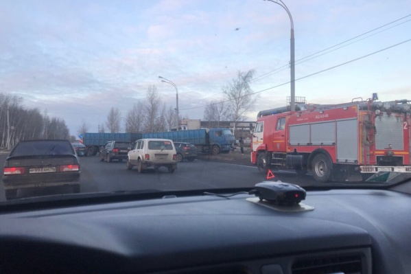 В выехавший грузовик врезалась «Киа»