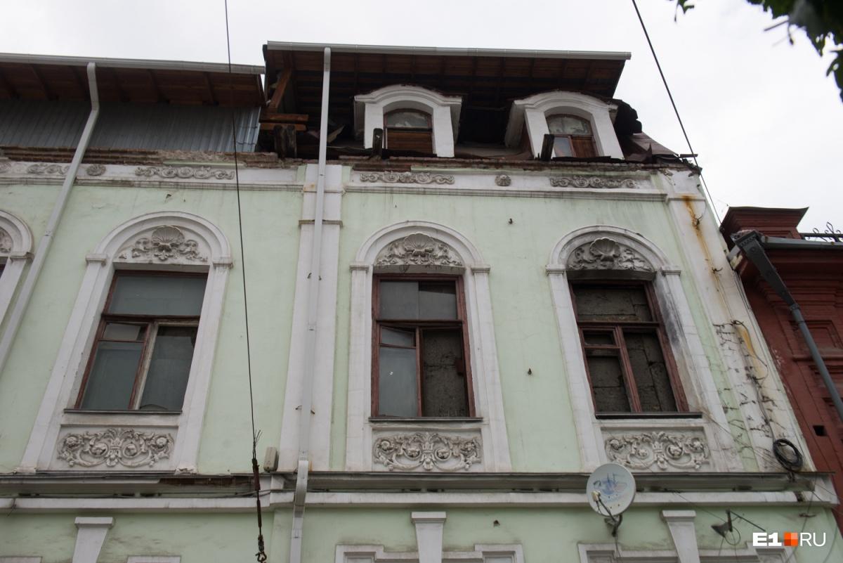 После пожара здание пострадало