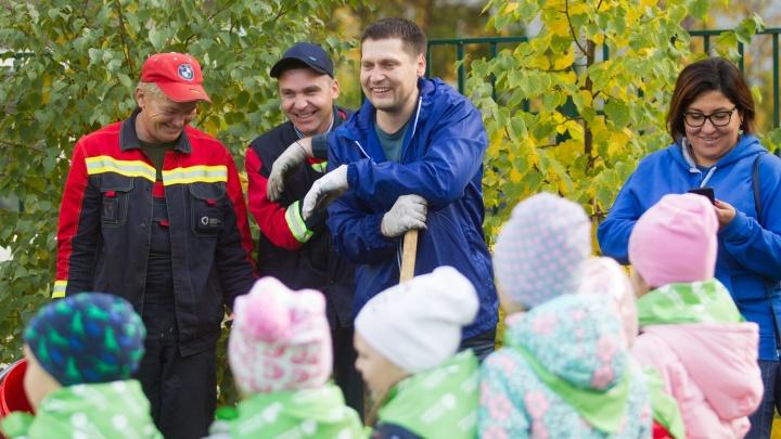 Несколько сотен деревьев за две недели высадила в Красноярске «Зеленая дружина СГК»