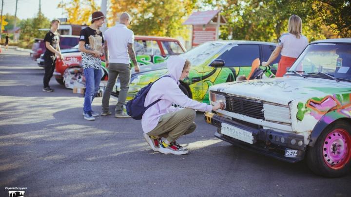 Добавили красок: на магнитогорский фестиваль автотюнинга заявились граффитисты