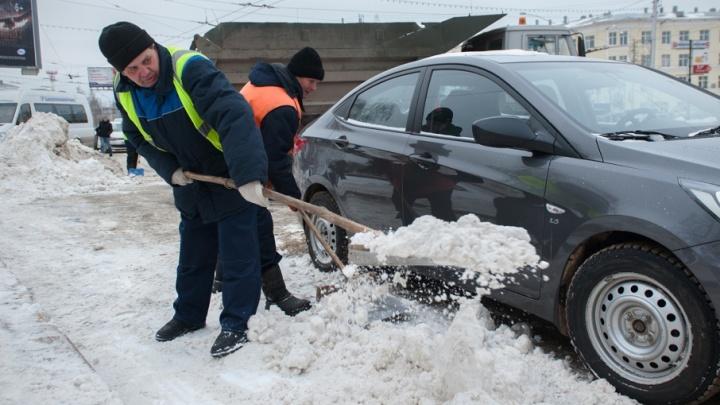 Где в Уфе будут убирать снег 17 января