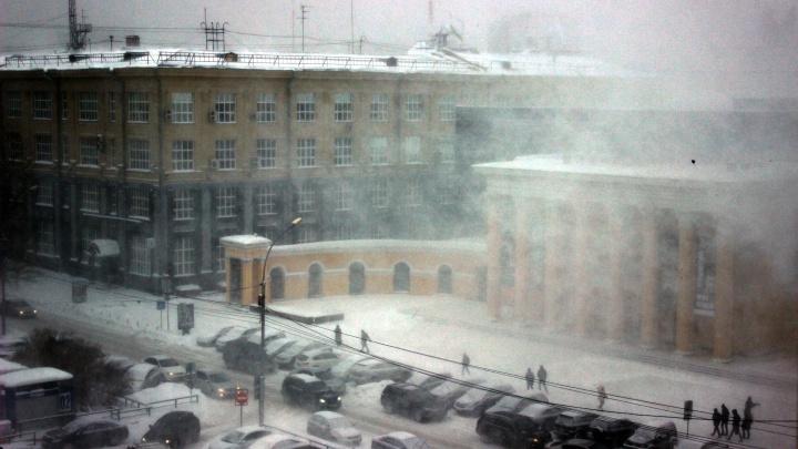 Заметёт и заморозит: в Новосибирск идёт метель с порывистым ветром