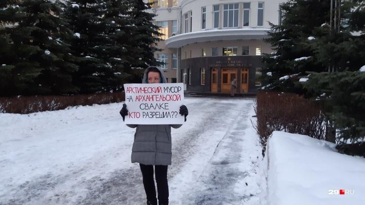 Экоактивисты в Архангельске вышли на пикеты против ввоза в столицу области мусора из Сабетты