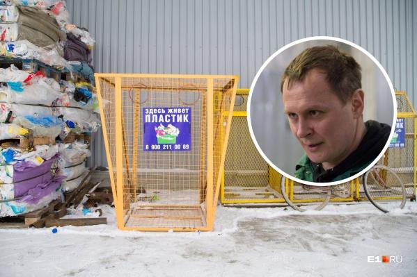 Вячеслав Русинов занимается раздельным сбором мусора несколько лет