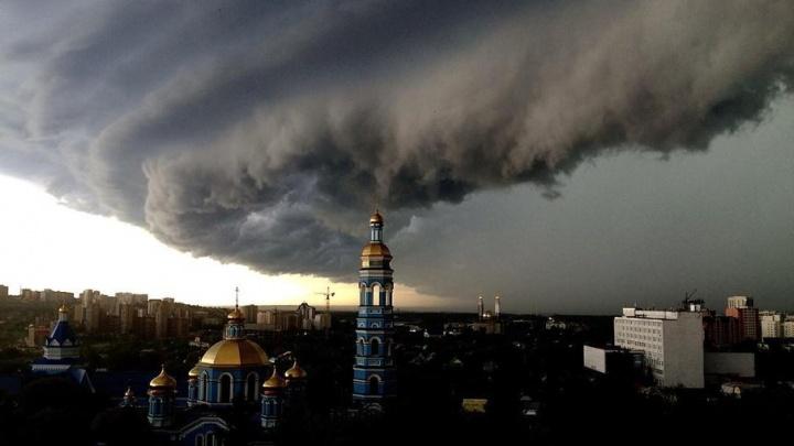 Кадры апокалипсиса: Уфу накрыла гигантская суперячейка