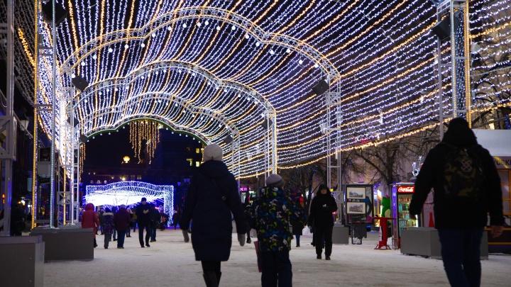 Вся в огнях: в Челябинске запустили светомузыкальный тоннель на Кировке